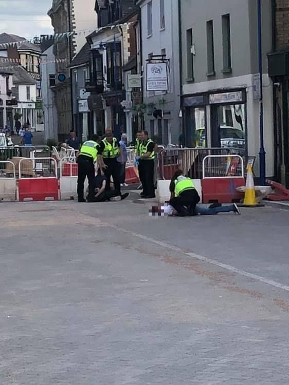 Free Press Series: Gwent Police officers at the scene. Picture: Will Walker