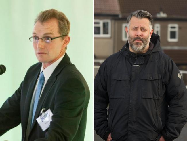 Public 'quite rightly upset' by Chepstow bypass funding blow. Pictured are David Davies MP (left) and Cllr Armand Watts. Picture (right): Mark Lewis