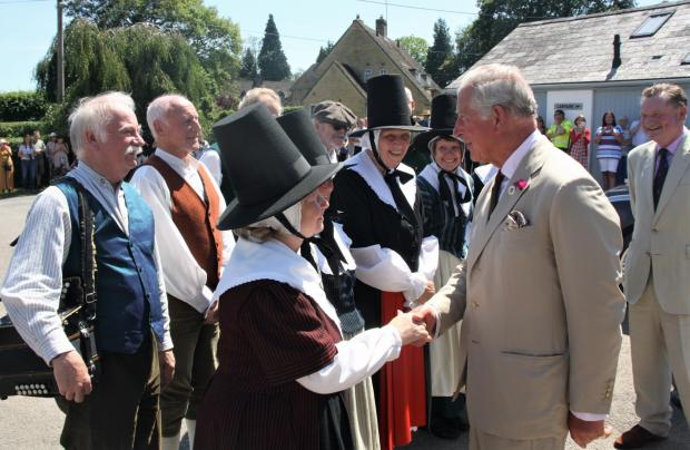 Free Press Series: Prince Charles meets the dancers and musicians of Gwerinwyr Gwent. Picture: courtesy of Ross Murray