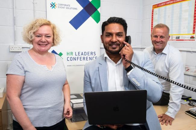 Ambitious: from left Councillor Jane Mudd Newport City Council, Ameer Shabbir Corporate Events Solutions and Martin Palmer UKSE