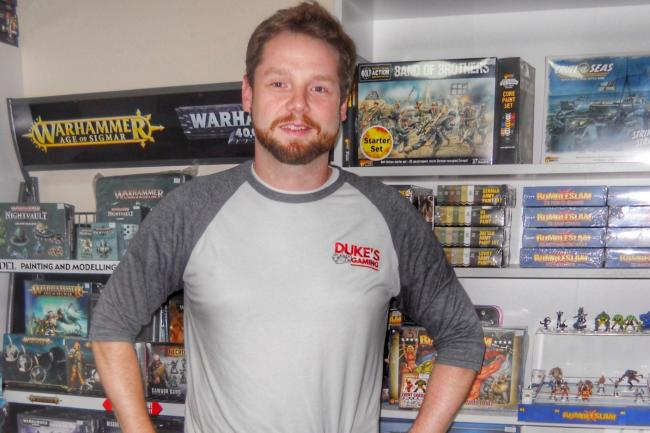 Luke Durham, of Duke's Gaming, Pontypool