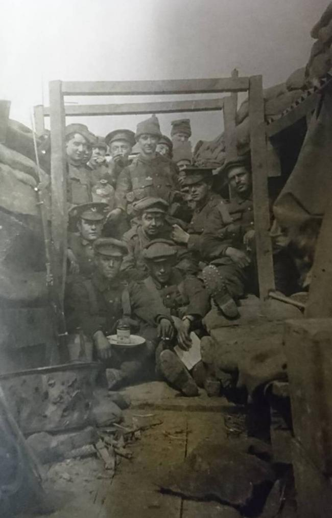 The Monmouthshire Regiment's 2nd Battalion in the trenches. Picture: Torfaen Museum.