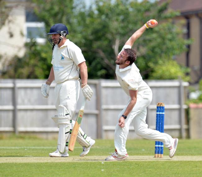 STAR MAN: Chris Mee, right, shone with bat and ball for Panteg against Malpas. Picture: christinsleyphotography.co.uk