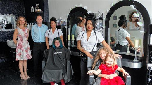 Nicole Morris has realised her lifelong dream of opening and running her own hair salon with support from Torfaen Council's Communities for Work Plus programme. Picture: Torfaen council