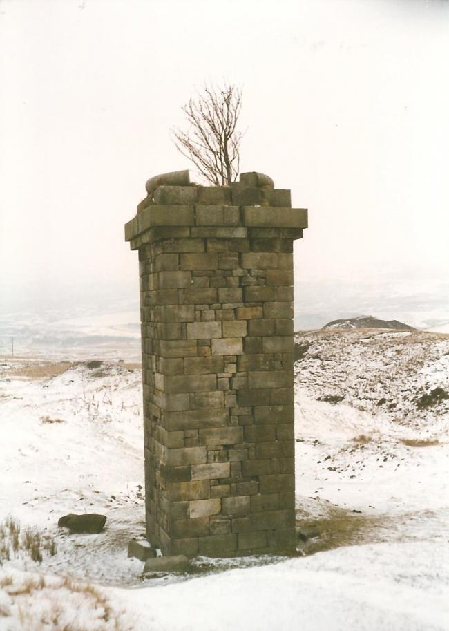 This stone chimney is the last thing that remains of the Hills Pits to the north west of the town of Blaenavon. Picture: Torfaen Museum.