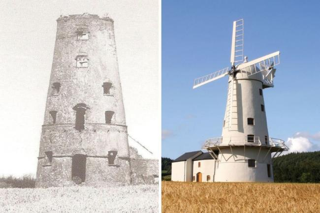 Llancayo Mill before and after its restoration. Picture: Torfaen Museum