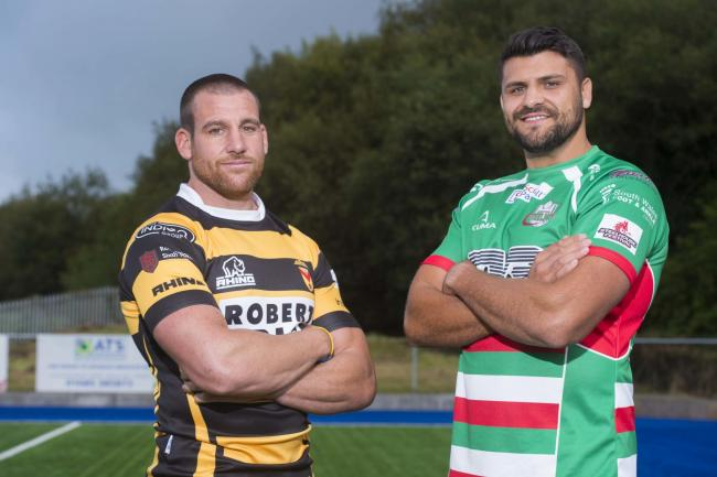 CAPTAINS: Newport's Rhys Jenkins and Ebbw Vale's Ashley Sweet (Picture: WRU)