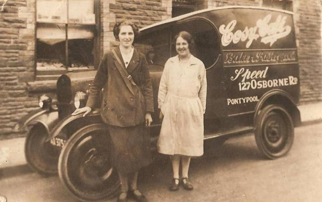 Lillian Mabel Chartres was born in 1903 and her family ran the Cosy Café and Speed's Bakery in Pontypool's Osbourne Road. Picture: Torfaen Museum.