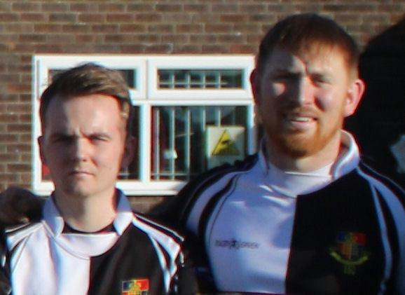 Morgan Freeman (left) and Ashley Mustoe scored tries for Chepstow 1st XV in the 38-6 victory at Blackwood Stars