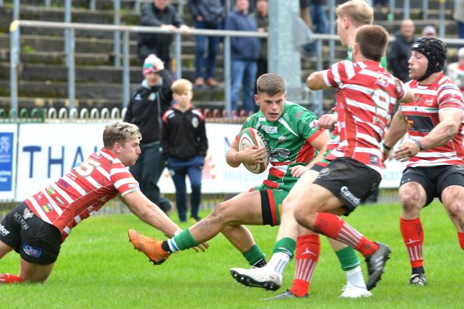 Wing Ewan Rosser on the run for Ebbw Vale (Picture: CHRIS TINSLEY PHOTOGRAPHY)