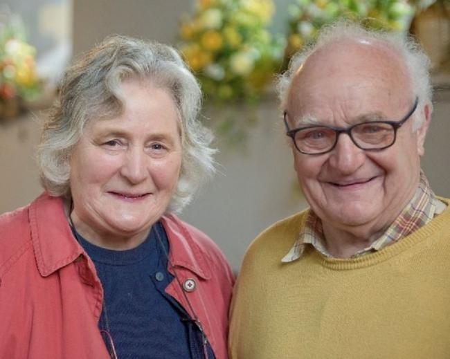 Abergavenny-based licensed lay minister David Meredith, who has died aged 81, pictured here with his wife Megan
