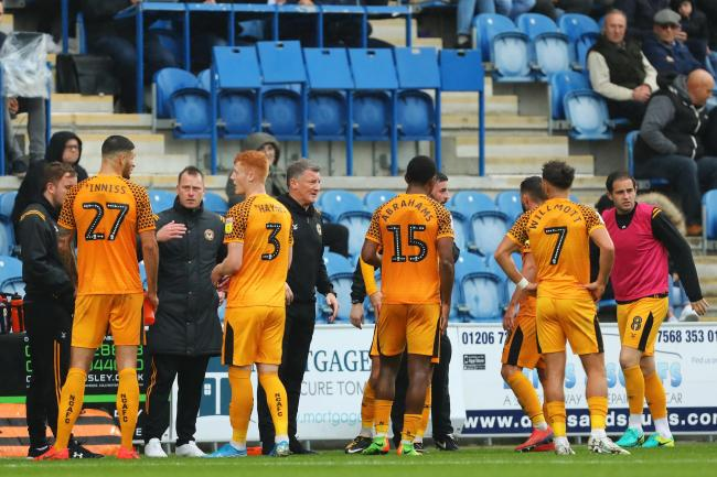 POSITIVE: Newport County manager Michael Flynn believes in his players