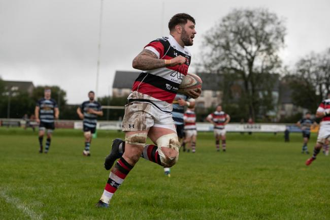 Number eight Ieuan Jones scored Pontypool's first try against Bedwas. Picture from files