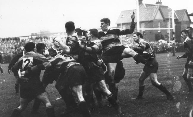 HISTORIC HOME: The legendary Brian Price in the thick of the action during Newport's famous win over the All Blacks.