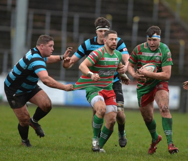 INJURY: Ebbw Vale's Rhys Francis left the field against Llandovery with what looked like a dislocated shoulder. Picture from files: christinsleyphotography.co.uk