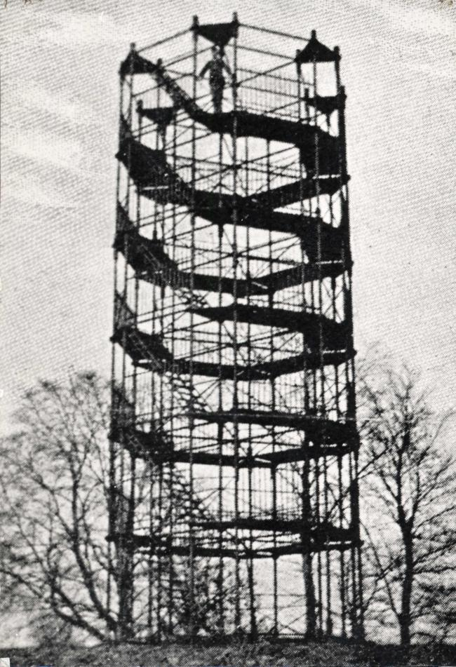 Blakemore's iron tower, which was built in 1820. Photograph from the collections of Monmouth Museum ©Monmouth shire Museums