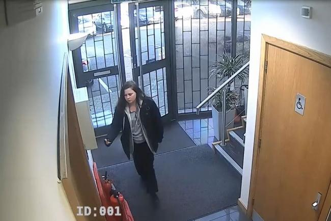 CCTV image of Leah Croucher arriving for work the day before she went missing
