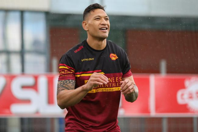 Israel Folau Handout PhoIsrael Folau admits he is feeling nervous ahead of his Catalans debut