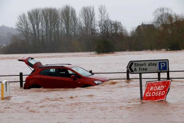 Flooding at Llanfoist Bridge, Monmouthshire, in February 2020, when Storm Dennis struck South East Wales. Picture: Vince Cox