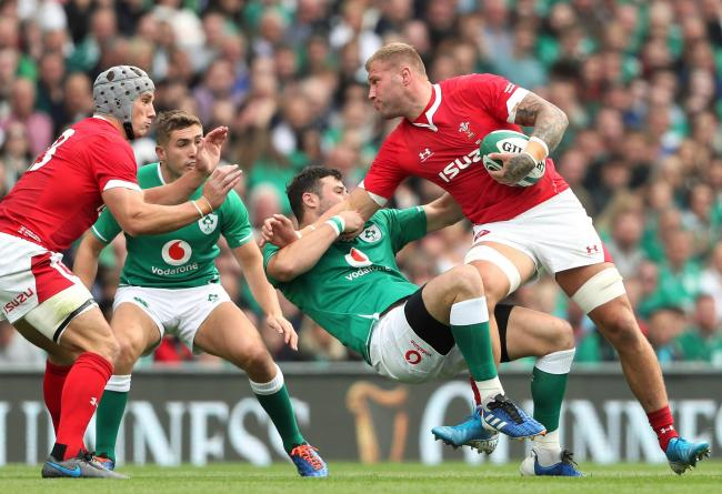 RECALL: Ross Moriarty came off the bench in Wales' 24-24 defeat by Ireland. Picture: Brian Lawless/PA Wire