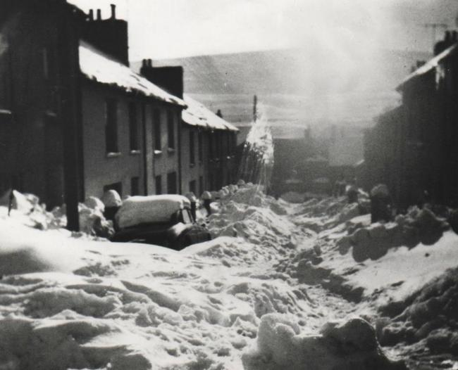Severe snow fall disrupted every day life in Blaenavon in 1963. Picture: Torfaen Museum.