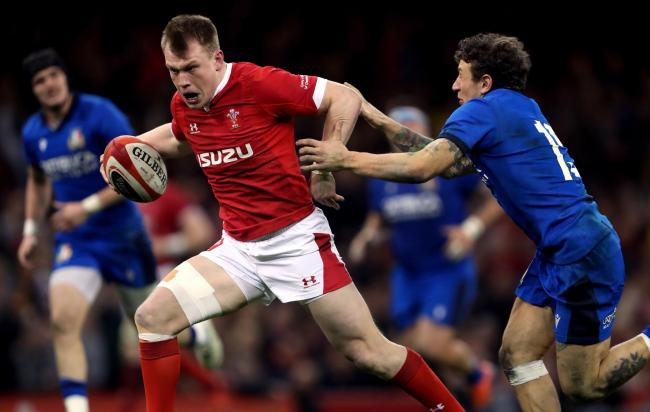 STAR: Wales centre Nick Tompkins will spend the year on loan at the Dragons from Saracens