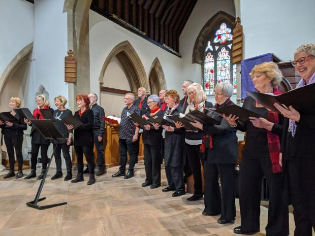 Free Press Series: The Larks Community Singers group rehearsing in Chepstow. Picture: Derek Fowler