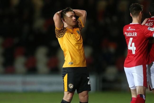 SIDELINED: Billy Waters and Newport County are unlikely to finish the League Two season