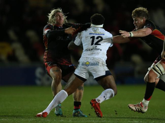 TOUGH TEST: The Dragons were overpowered by traditional European heavyweights Clermont Auvergne in last season's Challenge Cup