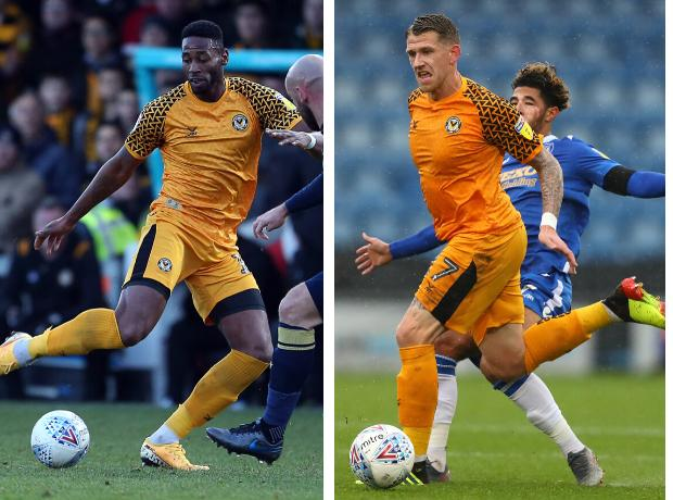 OFF: Jamille Matt and Scot Bennett are leaving Newport County
