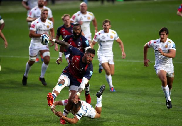 Free Press Series: POWERFUL: England number eight Nathan Hughes on the charge for Bristol