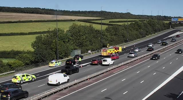 Emeregency services are at the scene (Picture: Traffic Wales)