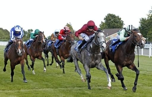 Francesco Guardi (right) races in the British Stallion Studs EBF Novice Stakes at Yarmouth