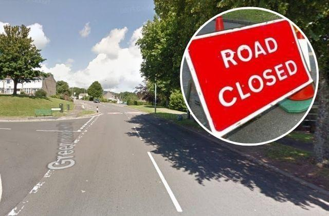 Greenmeadow Way will be closed from its junction with Blenheim Road to its junction with Shakespeare Road. Picture: Google Street View