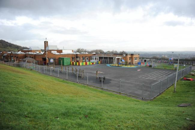 Staff member tests positive for coronavirus at Torfaen school. Pictured is Woodlands Community Primary School, Upper Cwmbran. Picture: Jon Bevan