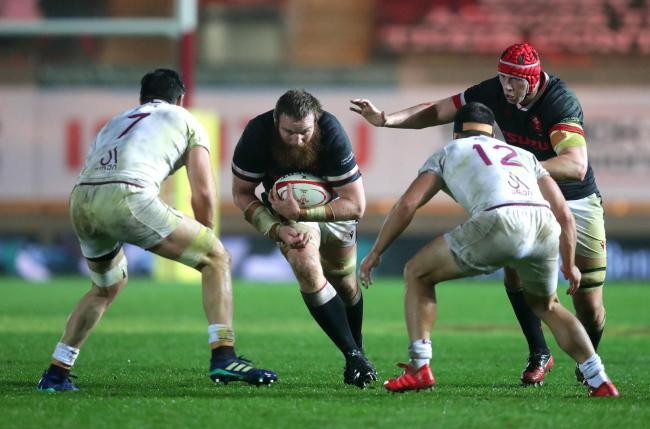 LEAVING: Wales lock Jake Ball is returning to Australia from the Scarlets at the end of the season