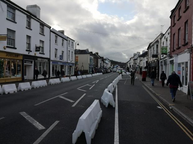 Free Press Series: Monnow Street in Monmouth during lockdown