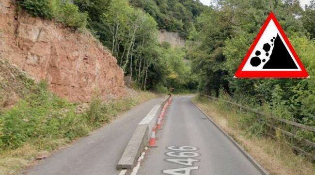Work on rock face above A466 delayed further by bats