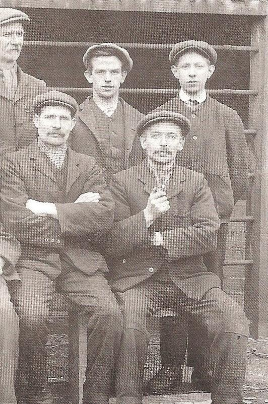 Micah Lewis, seated on the right, who was head packer at Town Forge in Pontypool for over 30 years, taken in 1920. Picture: Torfaen Museum.