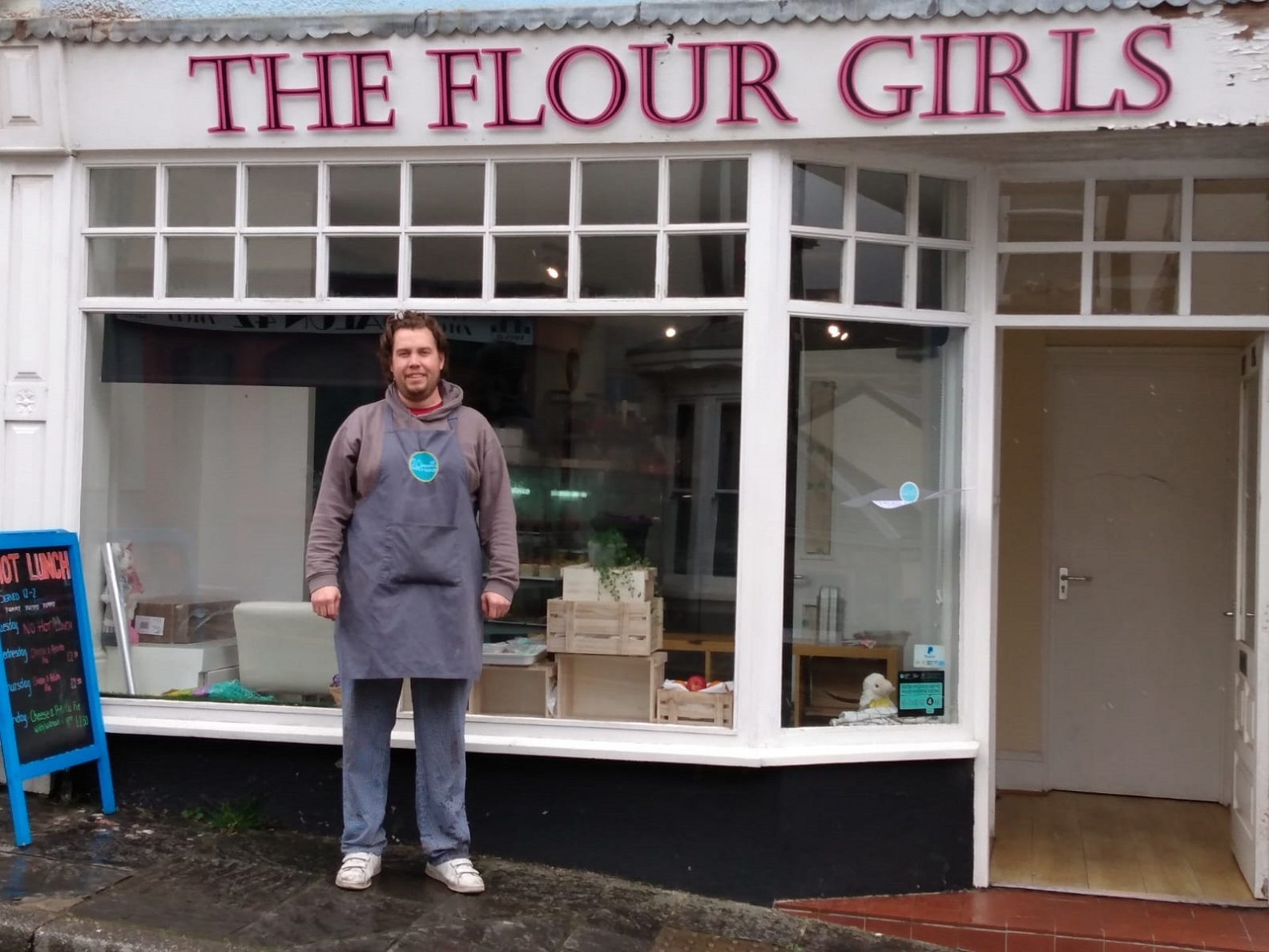 Chris O'Connell, who along with his wife Rhian, owns The Flour Girls in Blaenavon.