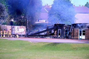 DEVASTATED: The remains of Thornwell school after the fire