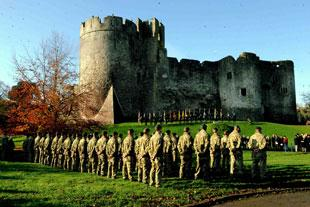 Tears of joy as Chepstow honours heroes
