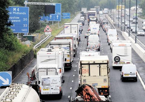 Seven-mile queues on M4 between Magor and Newport