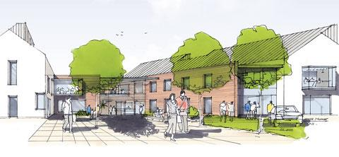 SITE: An artist's impression of how the new Monmouthshire council offices in Usk could look