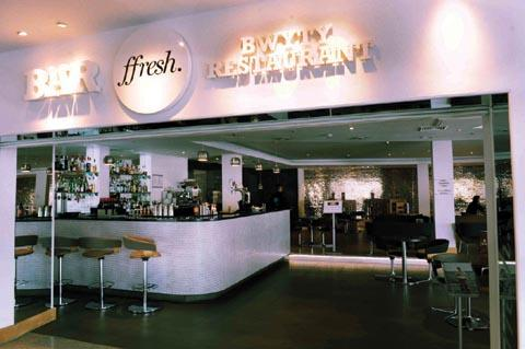 The Ffresh restaurant situated at the Wales Millennium Centre