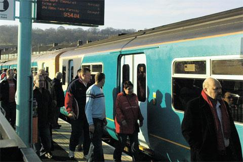 Flooding hits Newport to Hereford trains
