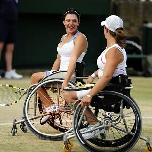 Jordanne Whiley, left, and Lucy Shuker won bronze in the women's doubles
