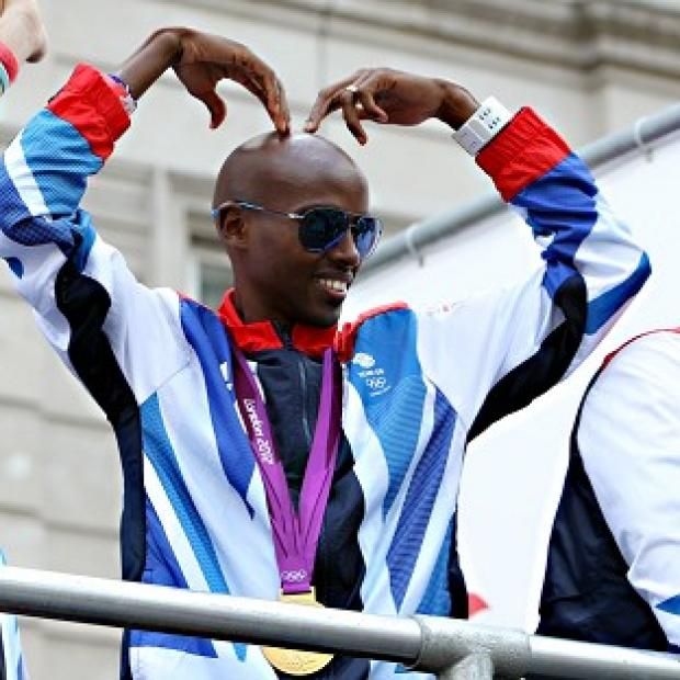 Mo Farah was part of the athletes parade celebrating London 2012