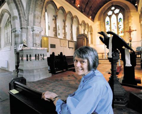 LOTTERY BOOST: The Rev Jean Prosser in St Nicholas' Church, Grosmont