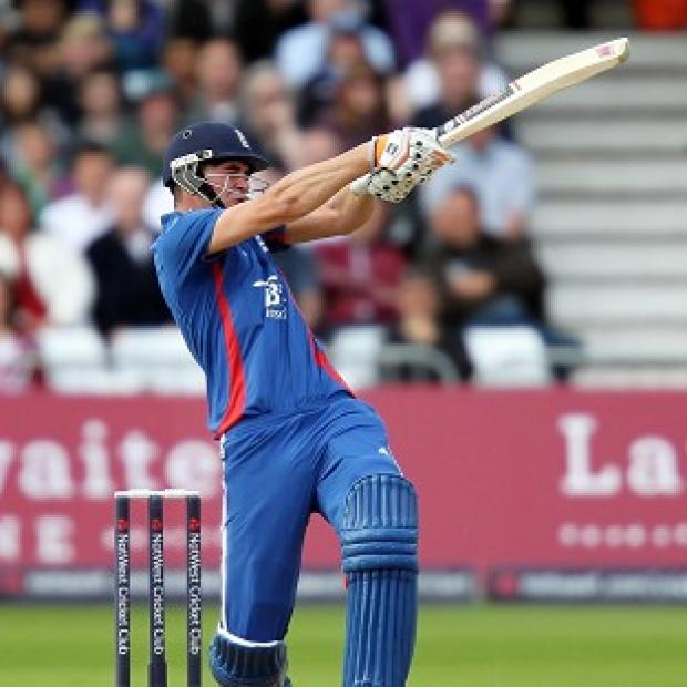 Alex Hales' half-century helped England post a formidable score against Australia